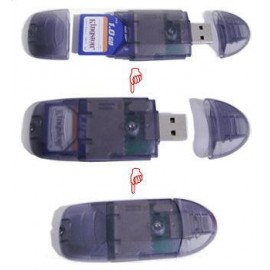24 in 1 USB 2.0 SD/MMC/RS MMC Card Reader and Pen Drive (SDHC upto 32GB/VISTA READY)