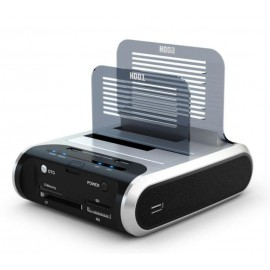 Dual HDD Docking w/Sim/Smart Card Reader/USB Hub