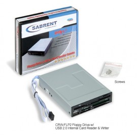 Floppy Drive and 68in1 USB 2.0 Internal Memory Card Reader & Writer - SDHC/VISTA/Windows 7