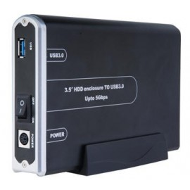 "3.5"" USB 3.0 SATA (Serial ATA) Hard Drive Aluminum Enclosure (Backward compatible to USB 2.0)"