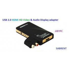 SABRENT USB 2.0 HDMI HD Video and audio Display Adapter USB-1080P USB to HDMI Interface