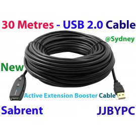 Sabrent 30m Metres USB 2.0 ACTIVE EXTENSION BOOSTER CABLE (USB-X30M)