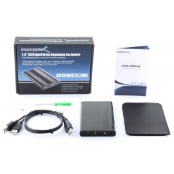 Sabrent USB 2.0/ESATA TO 2.5″ SATA ALUMINUM HARD DRIVE ENCLOSURE
