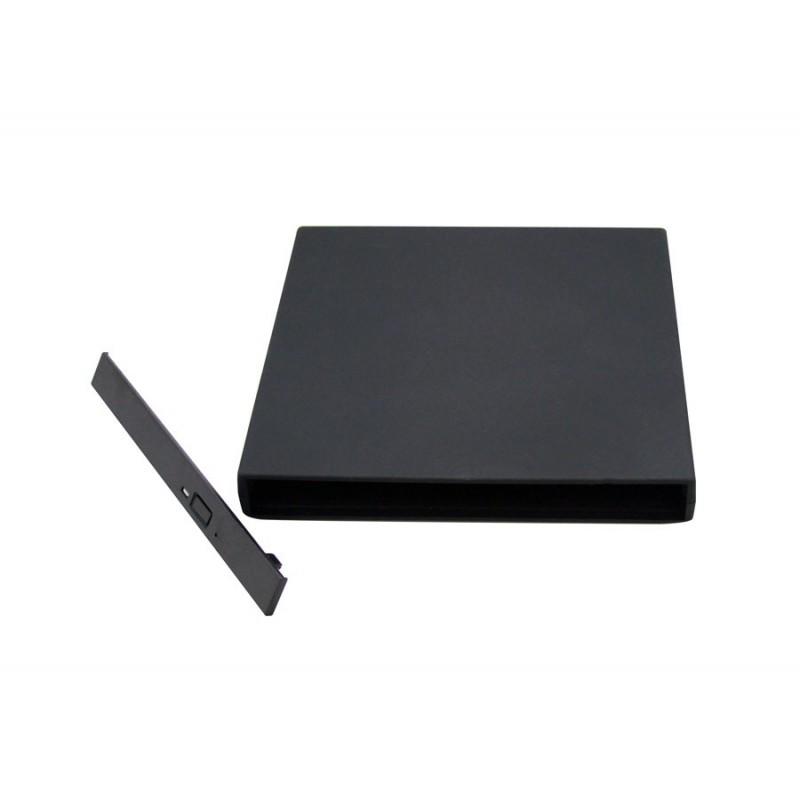 USB 2.0 SATA Portable Slim External Notebook/Laptop CD/DVD-RW Enclosure