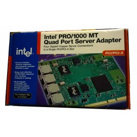 Brand New Intel PWLA8494MT PRO/1000 MT Quad Port Server Adapter 10/ 100/ 1000Mbps PCI-X