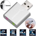 Sabrent Aluminum USB External Stereo Sound Adapter for Windows and Mac. Plug and play No drivers Needed - AU-EMAC