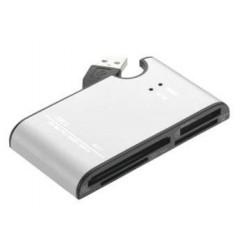 64 in 1 USB 2.0 External Media Flash Memory Card Reader & Writer Metal CR-USBE