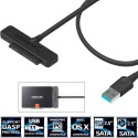 Sabrent USB 3.1 (Type-A) to SSD / 2.5-Inch SATA Hard Drive Adapter [Optimized For SSD, Support UASP SATA III]