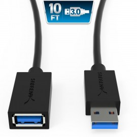 Sabrent 3metres 22AWG USB 3.0 Extension Cable A-Male to A-Female CB-3010 [BLACK]