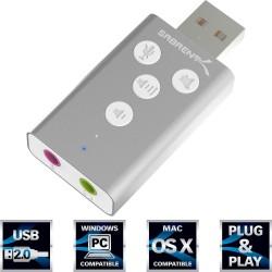 AU-DDAS Sabrent Aluminum USB External 3D Stereo Sound Adapter