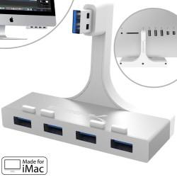 SABRENT Premium 4-Port Aluminum USB 3.0 Hub For iMac Slim Unibody HB-IMCU