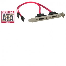Internal SATA to eSATA II 3GB External 2Port Host Bracket Cable 16cm