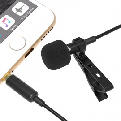 Sabrent Lavalier / Lapel Clip-on Omnidirectional Condenser Microphone , Black