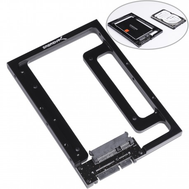 "Sabrent 2.5"" Hard Drive & SSD to 3.5"" SATA Bay Converter Mounting Kit (BK-PCBS)"