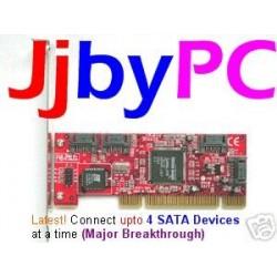 Silicon Image Serial ATA NATIVE ( SATA-150 ) 4 Port RAID PCI Host Controller Card Adapter
